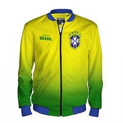 Бомбер мужской CBF Brasil цвета 3D-синий — фото 1