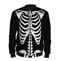 Бомбер мужской Скелет цвета 3D-черный — фото 1