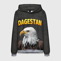 Толстовка-худи мужская Dagestan Eagle цвета 3D-меланж — фото 1