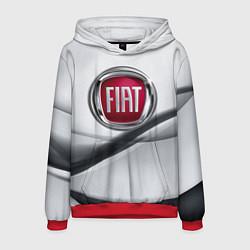 Толстовка-худи мужская FIAT цвета 3D-красный — фото 1