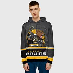 Толстовка-худи мужская Boston Bruins цвета 3D-черный — фото 2