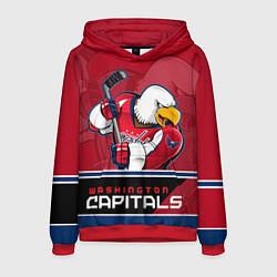 Толстовка-худи мужская Washington Capitals цвета 3D-красный — фото 1