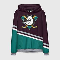 Толстовка-худи мужская Anaheim Ducks цвета 3D-меланж — фото 1