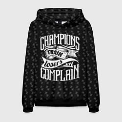 Толстовка-худи мужская Champions Train цвета 3D-черный — фото 1
