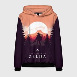 Толстовка-худи мужская The Legend of Zelda цвета 3D-черный — фото 1