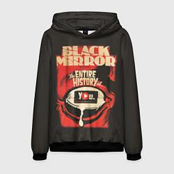 Толстовка-худи мужская Black Mirror: Entire history цвета 3D-черный — фото 1