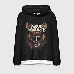 Толстовка-худи мужская Amon Amarth: Death Viking цвета 3D-белый — фото 1