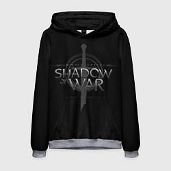 Толстовка-худи мужская Shadow of War цвета 3D-меланж — фото 1