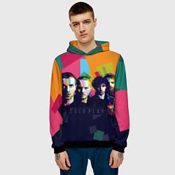 Толстовка-худи мужская Coldplay цвета 3D-черный — фото 2