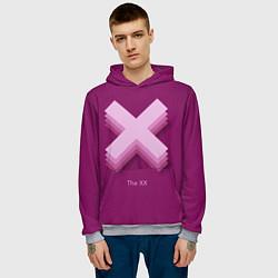 Толстовка-худи мужская The XX: Purple цвета 3D-меланж — фото 2