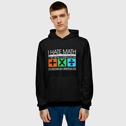 Толстовка-худи мужская Ed Sheeran: I hate math цвета 3D-черный — фото 2