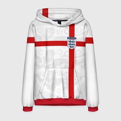 Толстовка-худи мужская Сборная Англии цвета 3D-красный — фото 1