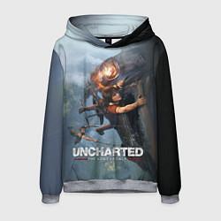 Толстовка-худи мужская Uncharted: The Lost Legacy цвета 3D-меланж — фото 1