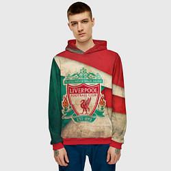 Толстовка-худи мужская FC Liverpool: Old Style цвета 3D-красный — фото 2