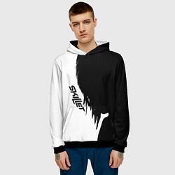 Толстовка-худи мужская Skillet Shadow цвета 3D-черный — фото 2