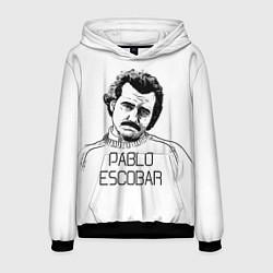 Толстовка-худи мужская Pablo Escobar цвета 3D-черный — фото 1