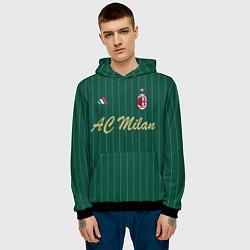 Толстовка-худи мужская AC Milan: Green Form цвета 3D-черный — фото 2