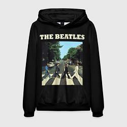Толстовка-худи мужская The Beatles: Abbey Road цвета 3D-черный — фото 1