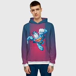 Толстовка-худи мужская Superman цвета 3D-белый — фото 2