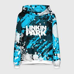 Толстовка-худи мужская Linkin Park цвета 3D-белый — фото 1