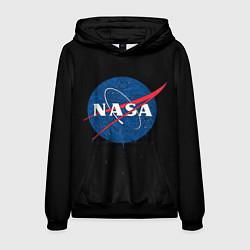 Толстовка-худи мужская NASA Краски цвета 3D-черный — фото 1