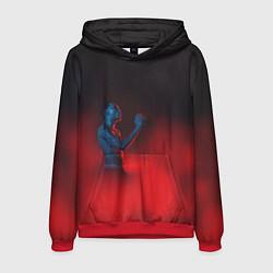 Толстовка-худи мужская Скриптонит цвета 3D-красный — фото 1