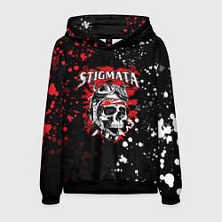 Толстовка-худи мужская Stigmata цвета 3D-черный — фото 1