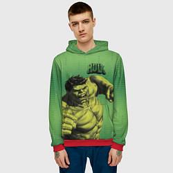 Толстовка-худи мужская Hulk цвета 3D-красный — фото 2