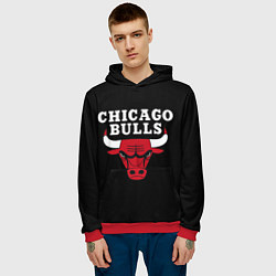 Толстовка-худи мужская CHICAGO BULLS цвета 3D-красный — фото 2