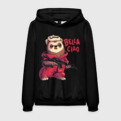 Толстовка-худи мужская Bella Ciao цвета 3D-черный — фото 1