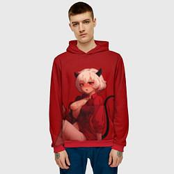 Толстовка-худи мужская HELLTAKER цвета 3D-красный — фото 2