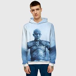 Толстовка-худи мужская GoT The Night King цвета 3D-белый — фото 2