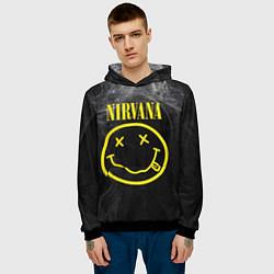 Толстовка-худи мужская Nirvana Smoke цвета 3D-черный — фото 2