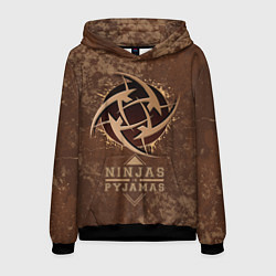 Толстовка-худи мужская Ninjas In Pyjamas цвета 3D-черный — фото 1