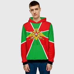 Толстовка-худи мужская Флаг ПВ цвета 3D-черный — фото 2