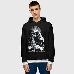 Толстовка-худи мужская BMTH: Skull Pray цвета 3D-белый — фото 2