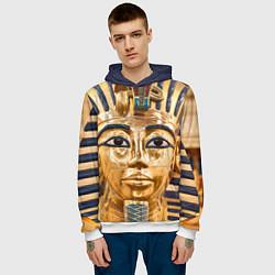 Толстовка-худи мужская Фараон цвета 3D-белый — фото 2