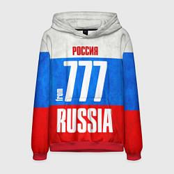 Толстовка-худи мужская Russia: from 777 цвета 3D-красный — фото 1