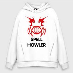 Толстовка оверсайз мужская Dark Elf Mage - Spell Howler цвета белый — фото 1