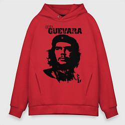 Толстовка оверсайз мужская Che Guevara цвета красный — фото 1