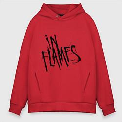 Толстовка оверсайз мужская In Flames цвета красный — фото 1