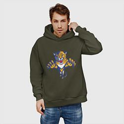 Толстовка оверсайз мужская Florida Panthers цвета хаки — фото 2