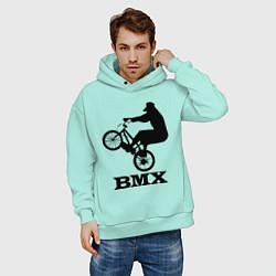 Толстовка оверсайз мужская BMX цвета мятный — фото 2