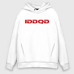 Толстовка оверсайз мужская IDDQD Doom цвета белый — фото 1