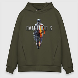 Толстовка оверсайз мужская Battlefield 3 цвета хаки — фото 1