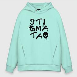 Толстовка оверсайз мужская Stigmata цвета мятный — фото 1