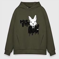 Толстовка оверсайз мужская Misfits Rabbit цвета хаки — фото 1