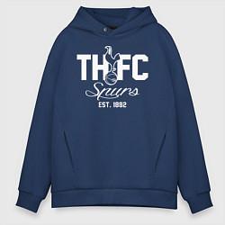 Толстовка оверсайз мужская THFC Est 1882 цвета тёмно-синий — фото 1