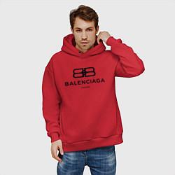 Толстовка оверсайз мужская Balenciaga Paris цвета красный — фото 2