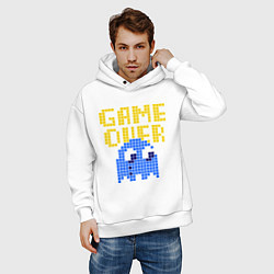 Толстовка оверсайз мужская Pac-Man: Game over цвета белый — фото 2